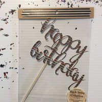 Happy Birthday Paper Cake Toppers