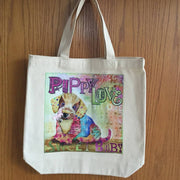 Colorful Art Canvas Tote Bags - Dog Themes