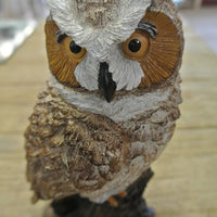 Great Horned Owl Statue - Concrete