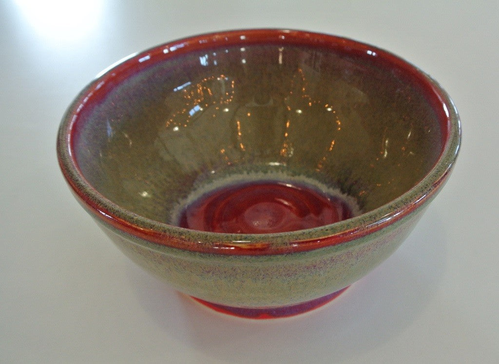 Red Bottomed Pottery Bowl