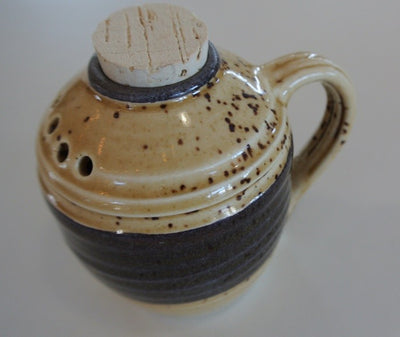 Two Toned Pottery Spice Jar