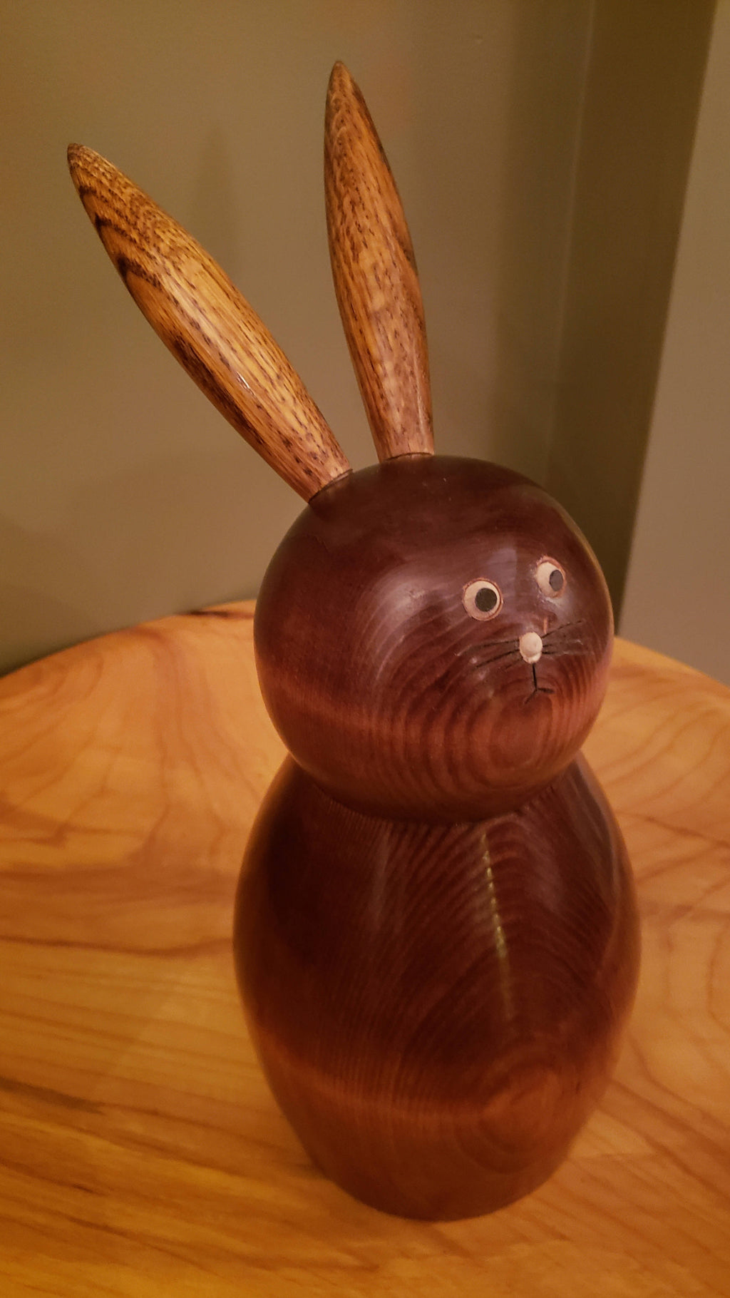 """BUN BUN"" Pine & Oak Wood Handcrafted Bunny"