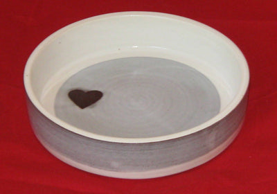 Pottery Casserole Dish with Heart