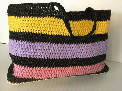 Crocheted Recycled Plastic Tote Bag