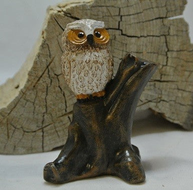 Owl Sitting on a Stump