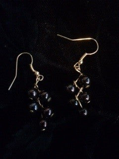 Black Multi-Bead Earrings