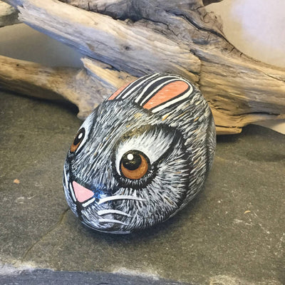 Hand Painted Rock Bunnies