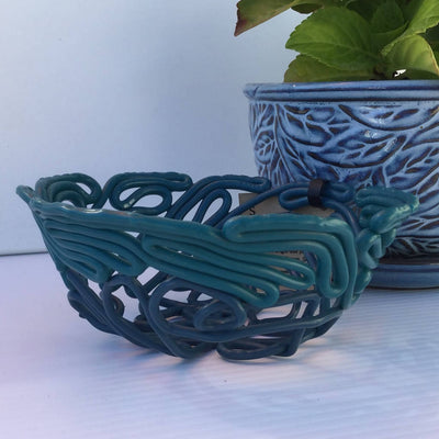 Recycled Heavy Plastic Decorative Bowls Small