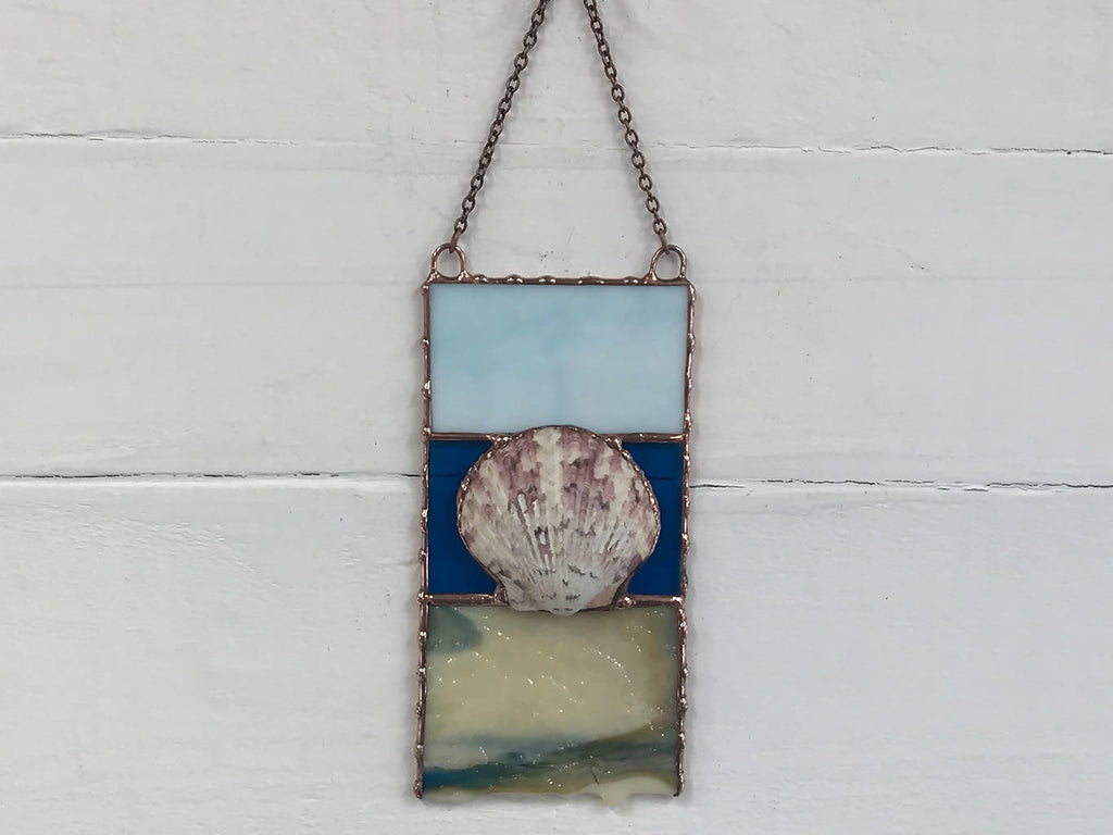 Stained Glass Beachscape Suncatcher
