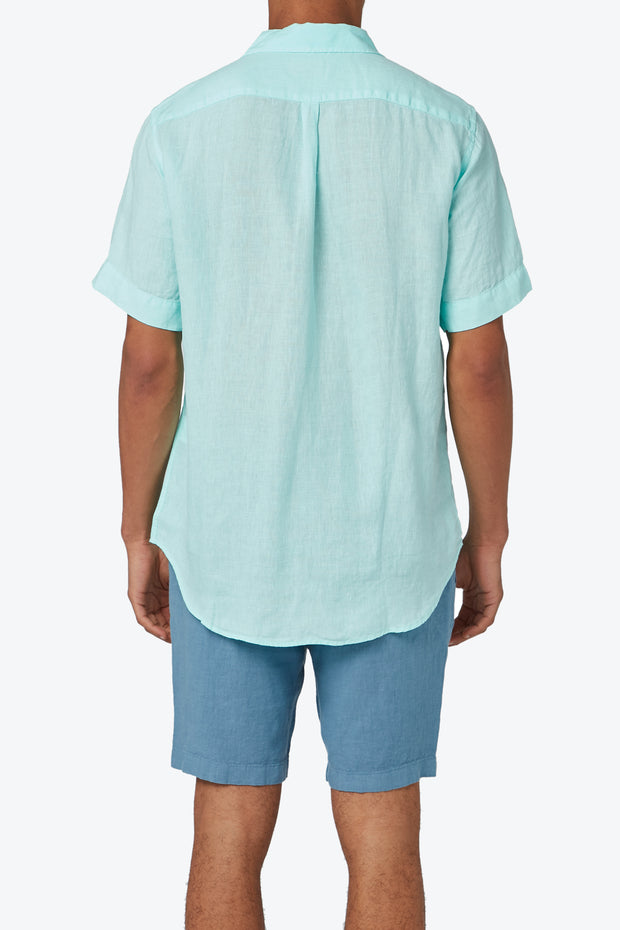 French Blue Burrow Linen Short