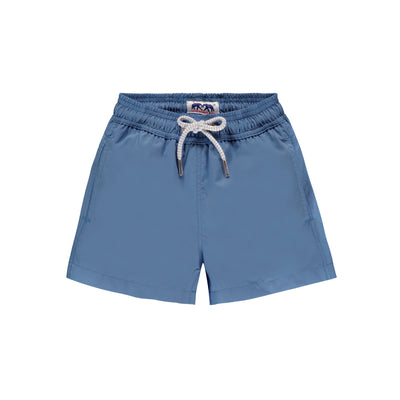 Chambray Blue Staniel Kids SwimShorts Front