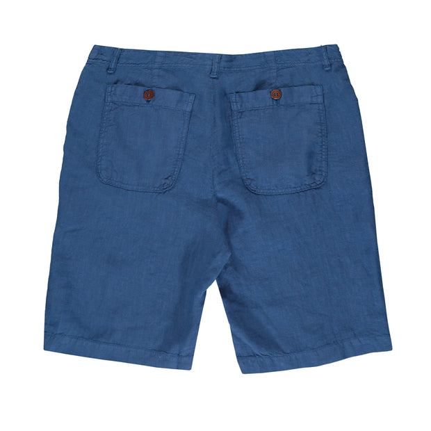 Chambray-Burrow-Mens-Linen-Shorts-Back