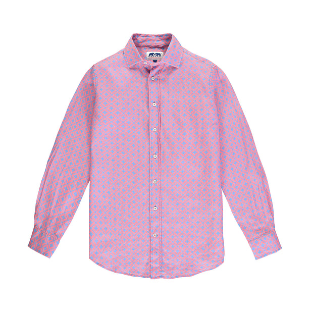 Mens-Abaco_Linen_Shirt _Cowrie_Kiss-Front