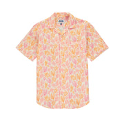 arawak-mens-linen-shirt-crazy-coral-orange-front