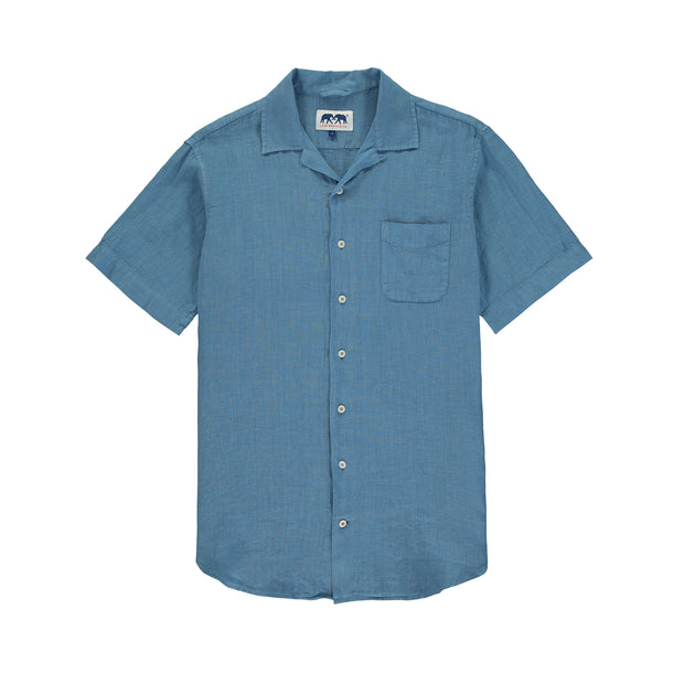 arawak-linen-shirt-french-blue-mens-front