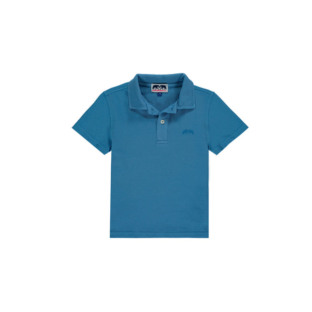french-blue-kids-polo-shirt-pensacola-front