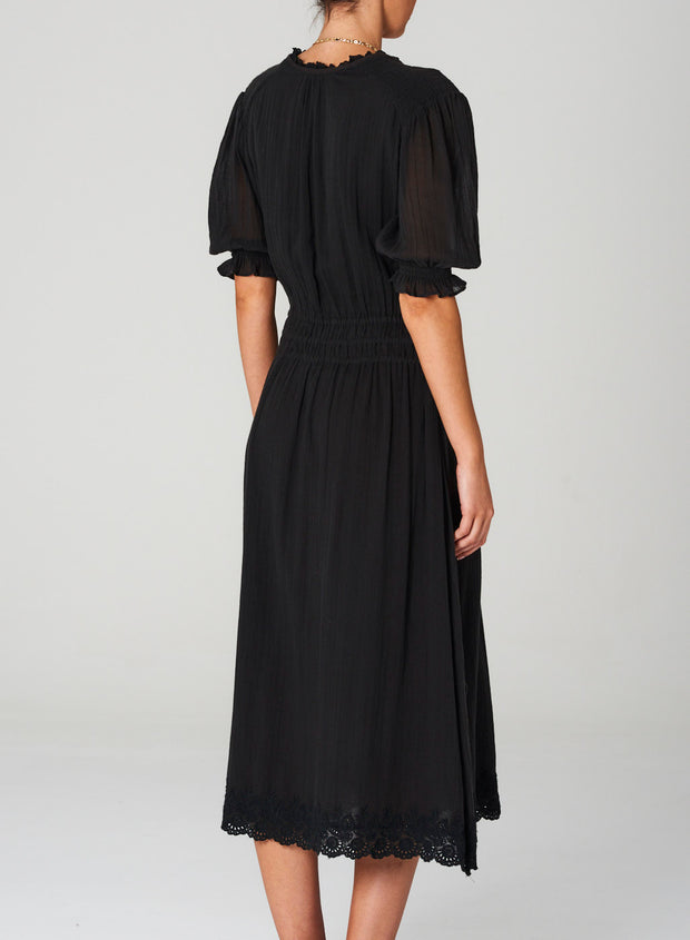 Ines midi Dress - Faded Black