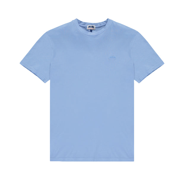 Lockhart-T-Shirt-Mens-Ocean-Blue-Organic-Cotton-Front