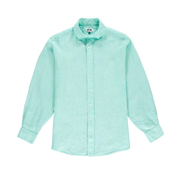 abaco-linen-shirt-cay-green-front