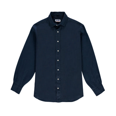 navy-blue-classic-linen-shirt-front-mens