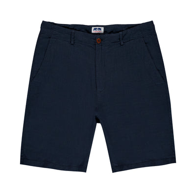 navy-blue-mens-linen-short-burrow-front