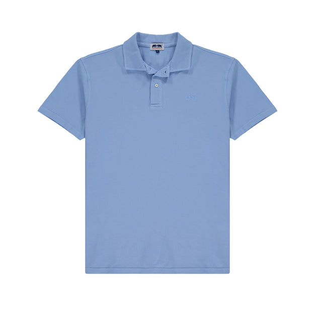 Pensacola-Polo-Shirt-Ocean-Blue-Organi-Cotton-Mens-Front