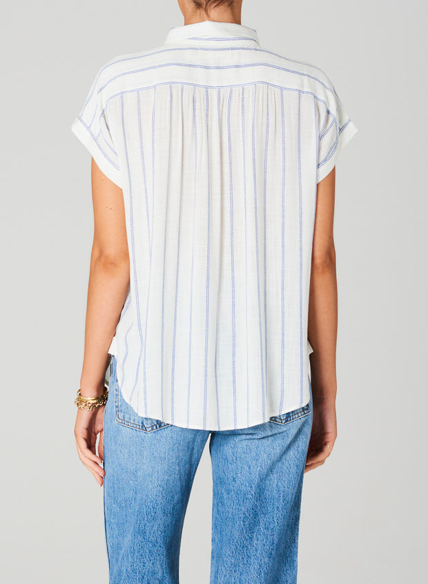 Remi Top - Ecru Stripe