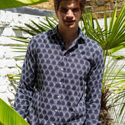 Sea Urchin Menswear Printed Cotton Shirt