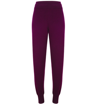 Cashmere Tracksuit Bottoms - Bordeaux
