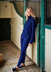 Cashmere Tracksuit Bottoms - Navy