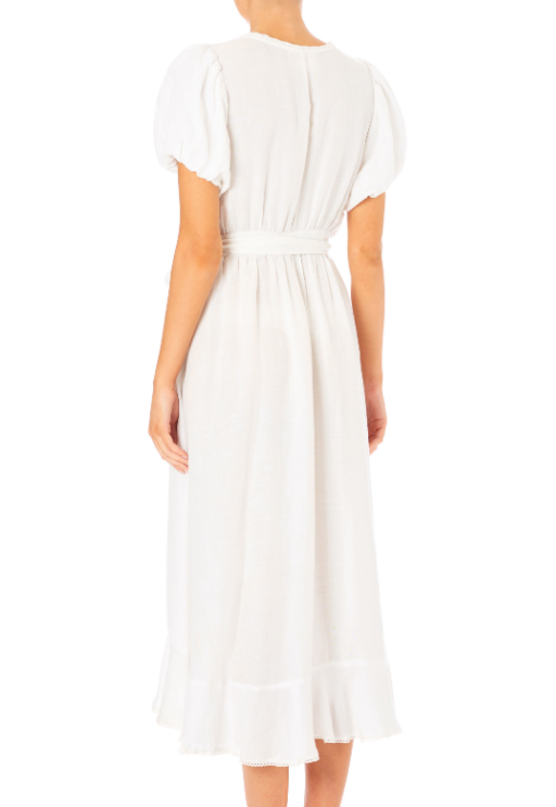 Frankie Frill Dress - White