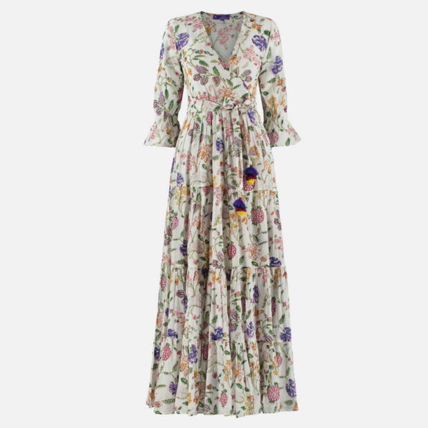 Greta dress - White flowers