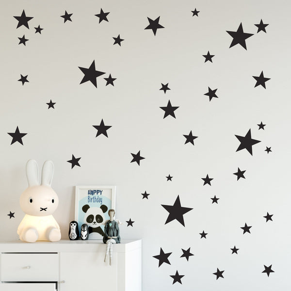 Stars wall stickers in mixed sizes