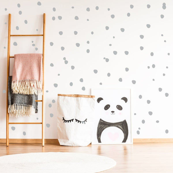 Hand sketched polka dot wall stickers