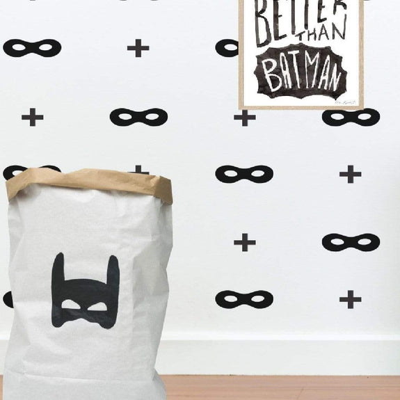 Superhero wall pattern