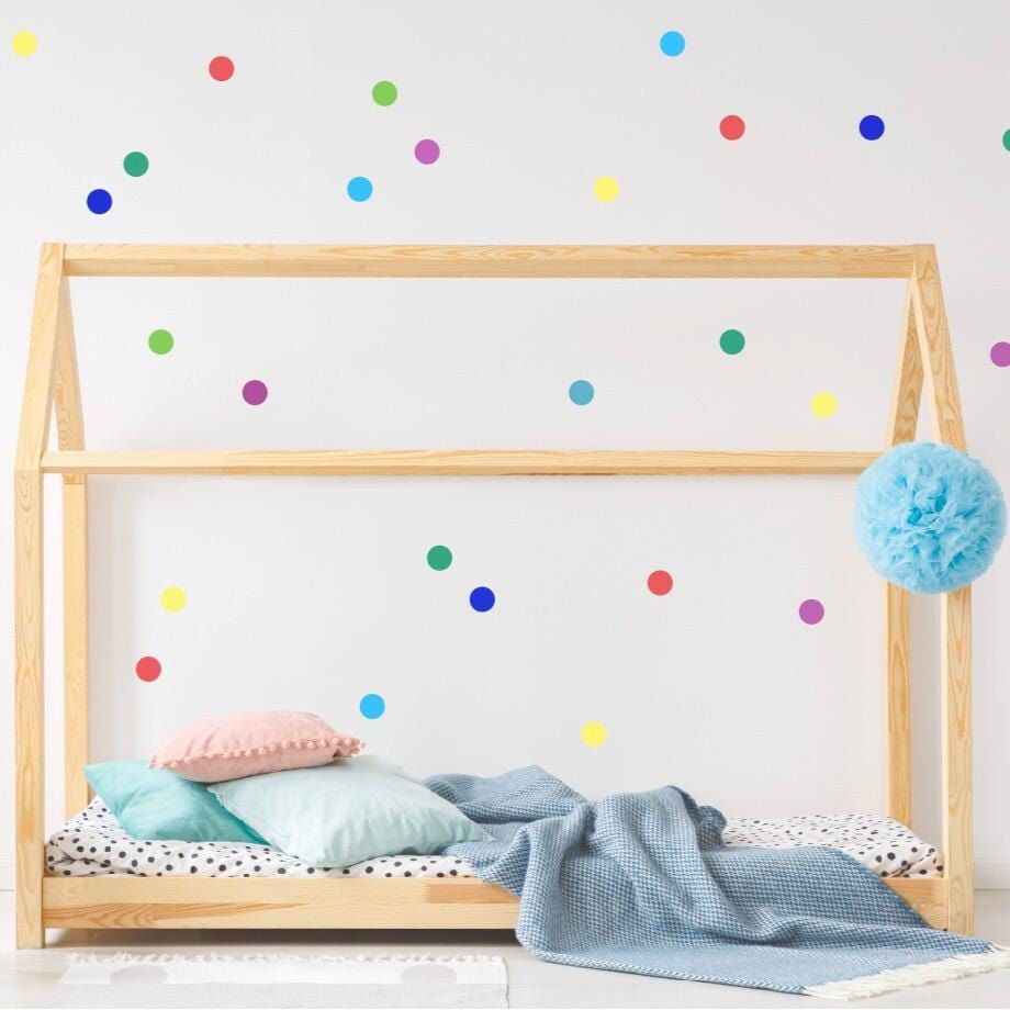 Rainbow confetti dots wall stickers - Studio Picco