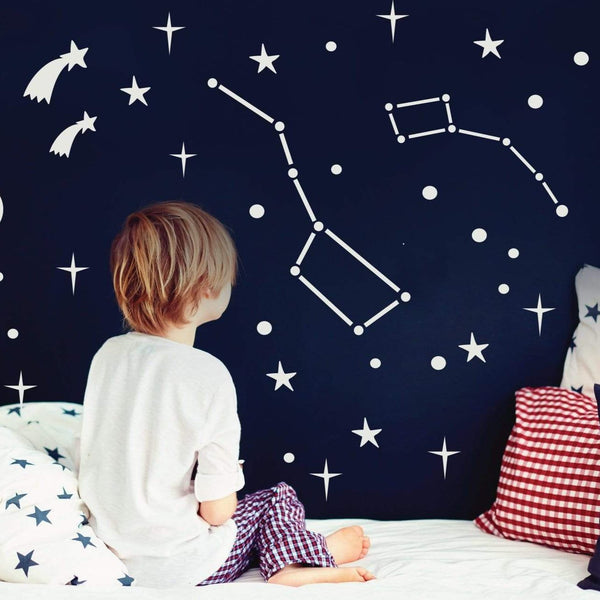 Big Dipper & Little Dipper constellation wall decals