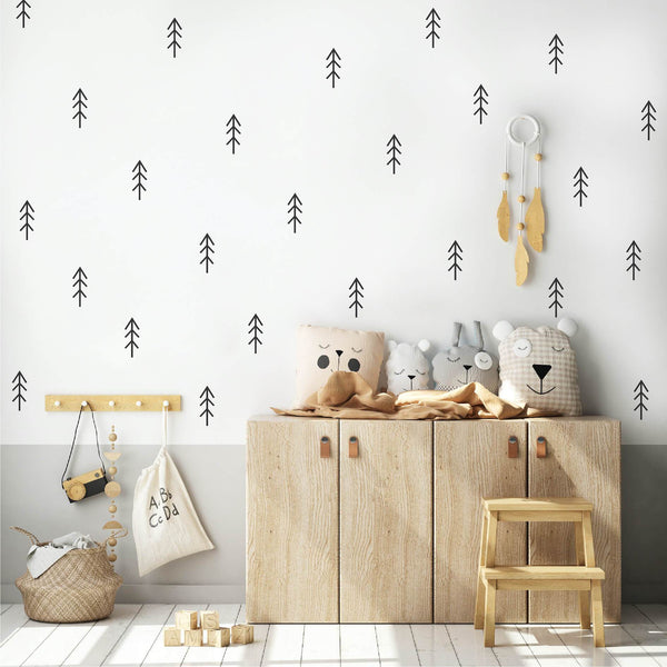 black nursery trees wall stickers