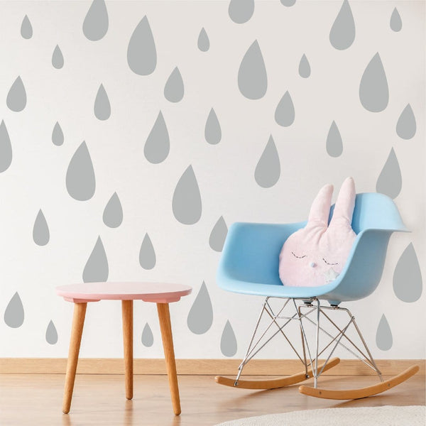Raindrop wall stickers in mixed sizes