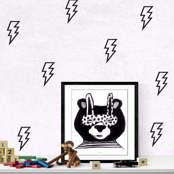 thunder wall decals in black