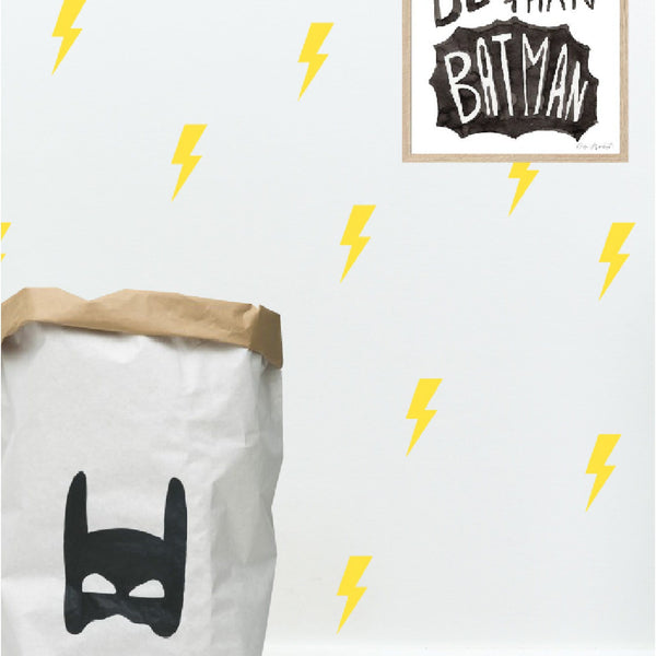 yellow lightning bolt wall decals by studio picco