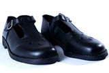 T-bar leather school  shoes