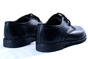Lace-up leather school shoes