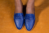 Half Blue Loafer