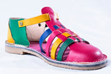 Vintage multi-colour sandals