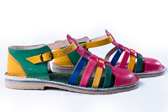 Vintage multi-colour sandal
