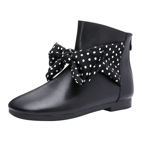 Classic leather Bow Boots