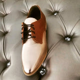 Oxford shoes rose gold and tan