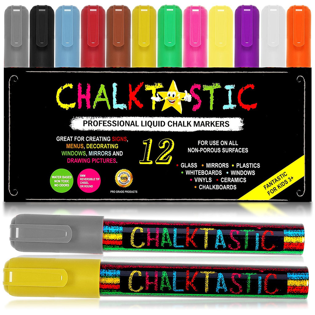 Chalk Markers 18 Pack for Kids Art Menu Bistro Boards Glass Window Erasable Pens