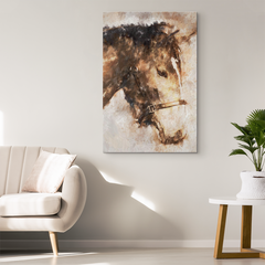 Brown Horse Oil Art on Canvas